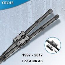YITOTE щетки стеклоочистителя для Audi A6 C5/C6/C7 подходит крюк/слайдер/коготь/кнопочный рычаг модель год от 1997 до