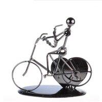 Presentes criativos Músicos Ciclismo Jogando Ofícios do Metal Arte Artista do Ofício de Presente Para Os Filhos Adultos home deco acessórios de Ferro Fundido