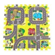 9 шт. Детские EVA пены Puzzle Play коврик на полу 30*30 см без края игровой коврик Мягкая пена Puzzle коврик Eva детский игровой коврик Сплит Совместное Крытый