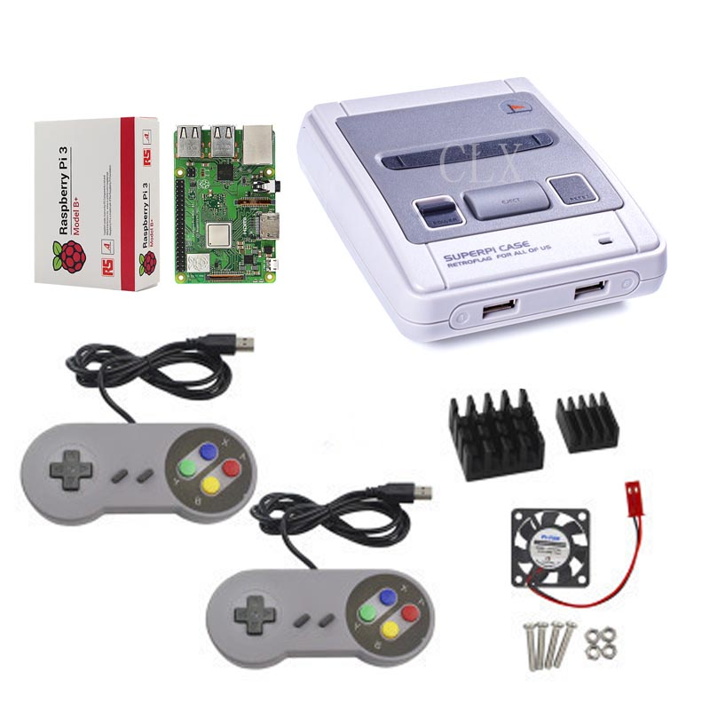 Image 3 - Retroflag SUPERPi CASE J NESPi Case+ Raspberry Pi 3 Model B+(plus)+32GB card+5V 3A Power+Heat Sink+fan+2pcs game handle+HDMI-in Demo Board Accessories from Computer & Office