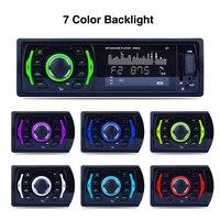 3 1 DIN LCD Display Digital In Dash Bluetooth 7 Color Light Car Stereo FM Radio