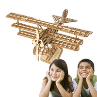 New 3D Wooden Trick Air Plane Aircraft Mechanical Wood Puzzle Model Assembly Kits