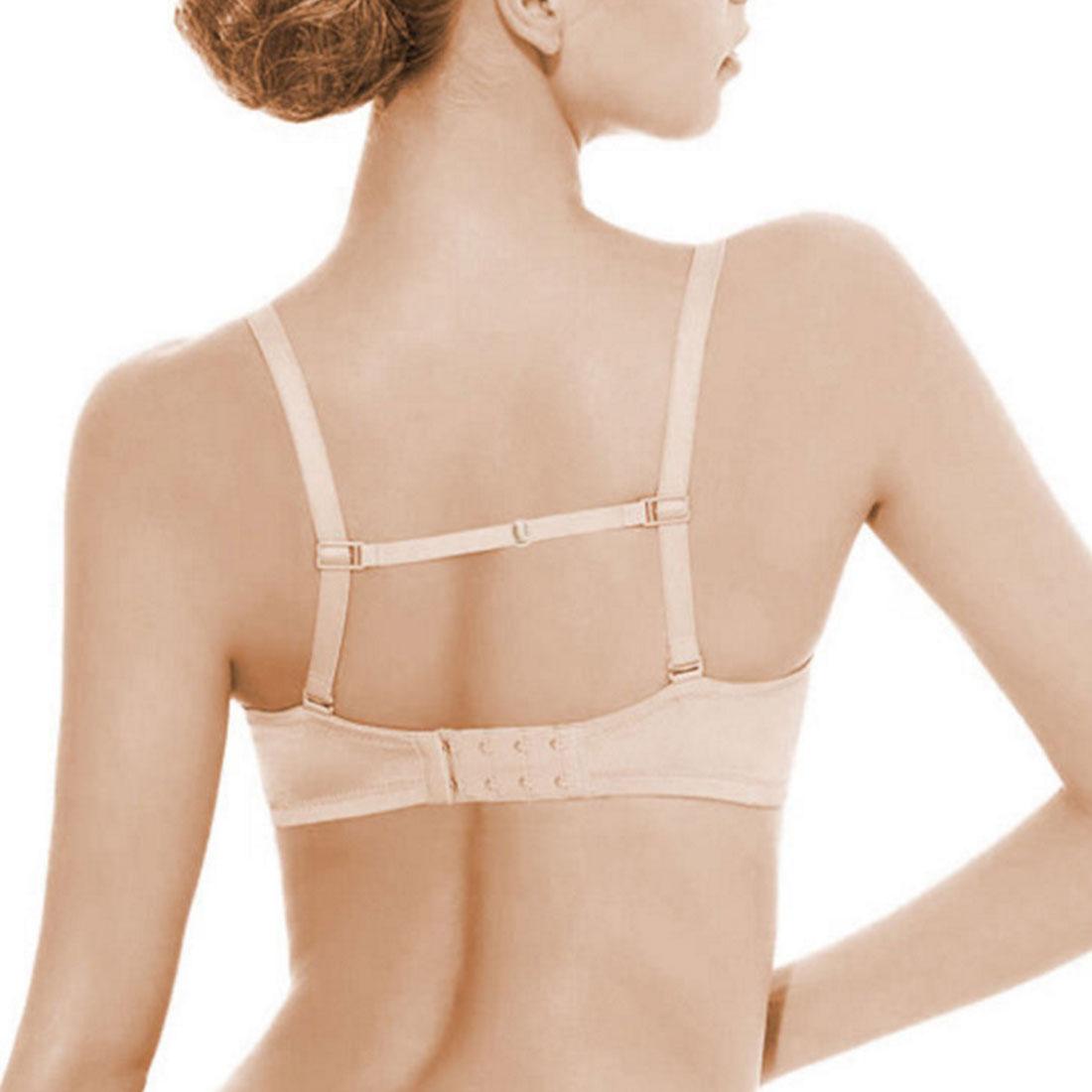 Lot 2PC Double-shoulder Strap Belt Bra With Back Hasp non-slip Black/White/Beige Anti-slip Anti-slip Shoulder Straps