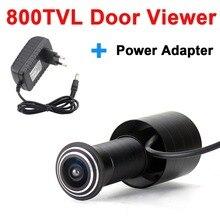 Цветная камера глазок 800TVL, видеокамера с широким углом, адаптер питания DV 12V1A