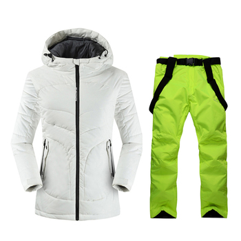 2019 High Quality Ski Jacket And Pants Snow Warm Waterproof Windproof Skiing And Snowboarding Suits Winter Ski suit Women Brand