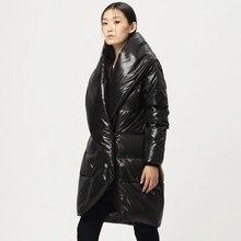 LYNETTE'S CHINOISERIE 2016 Winter New Arrival Original Design Women Slim Thick 90% White Duck Down Medium Long Jackets Outerwear
