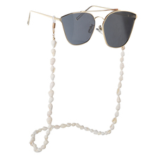 New Sunglasses Chain Holder Small Conch Shells Sunglasses Reading Glasses Chain Cord Eyewear Holder Neck Strap Rope Conch Chains conch shape embellished sweater chain