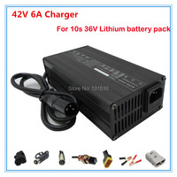 High quality 300W 42V 6A li ion charger 36V 6A lithium battery charger for 36V 10S Electric Bike Battery charger free shipping