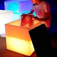 Высокое качество водостойкий лед ведро комбо ночной светодио дный LED 40x46 см винный шкаф куб с подушкой KTV бар светильники лампы стулья