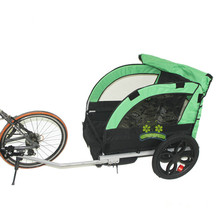 2 Kids/child Bicycle Tow Behind Trailer, Baby Stroller Bike Tricycle Of Double Seat, Aluminum Alloy Frame And Air Wheel lovebaby 20 inch air wheel and aluminum alloy frame baby jogger bike trailer strong shock proof stroller with hand brake