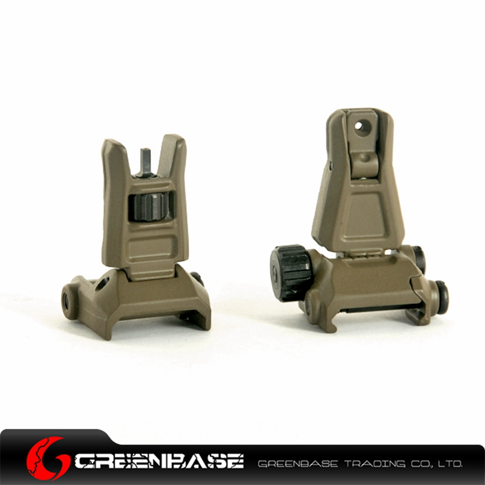 ФОТО Greenbase G4 Full Steel Iron Sights Front and Rear sights For Hunting Black Dark Earth