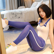 open crotch transparent Tighten School uniform Student Invisible Zipper body sexy costumes catsuit bodystocking stocking