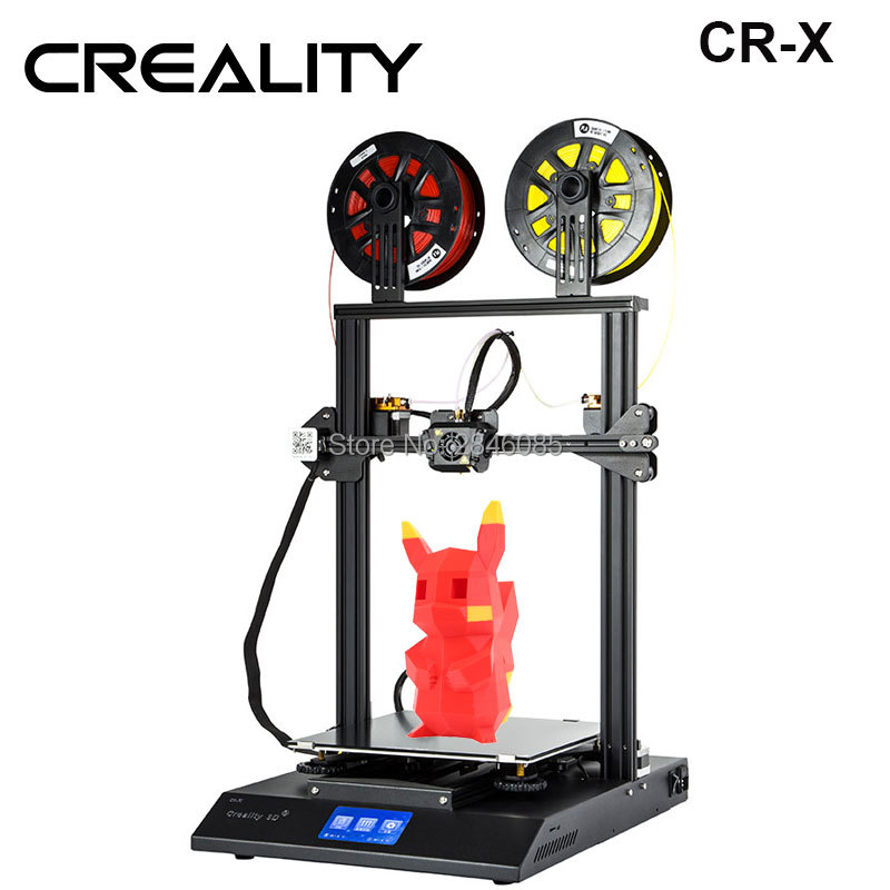 2019 New CREALITY 3D CR-X 3D Printer Dual-color Optional DIY KIT Touch Screen Large print size Dual Fan Cool Сковорода
