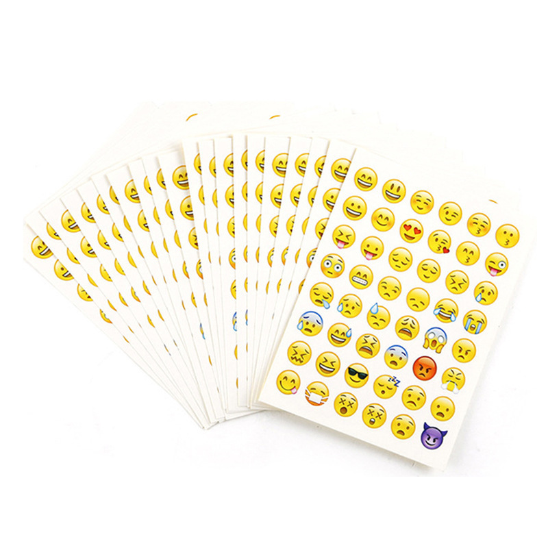 Cute Kawaii QQ Expression Stickers Creative Iphone Emoji Paper Sticky For DIY Diary Scrapbooking Photo Album Kids Students Gift in Stationery Stickers from Office School Supplies