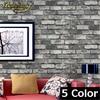 Wallpaper 5 Color 10M Roll Dark Grey Realistic Real Look Brick Stone Vinyl Textured Background 3d