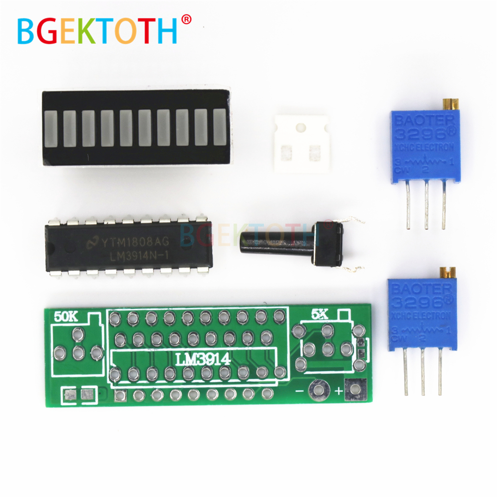 Green Electronic Diy Kits Led Display Board 3.7v Lithium Battery Capacity Indicator Module Led Power Level Tester 12v Atv,rv,boat & Other Vehicle