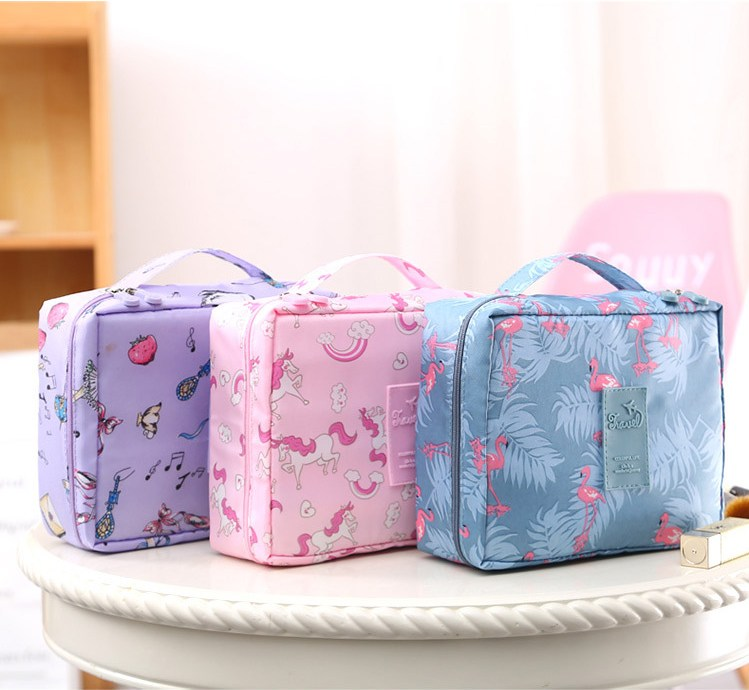 HTB1aSVdVHrpK1RjSZTEq6AWAVXah - New Flower Makeup Bag Women Waterproof Portable Cosmetic Bag Travel Necessity Beauty Toiletry kit Organizer Bag