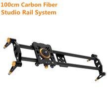 100cm/39.37″ Track Video Stabilizer Rail Track Slider Studio Camer Rail System Slider for DSLR Camera Photo Studio Accessories