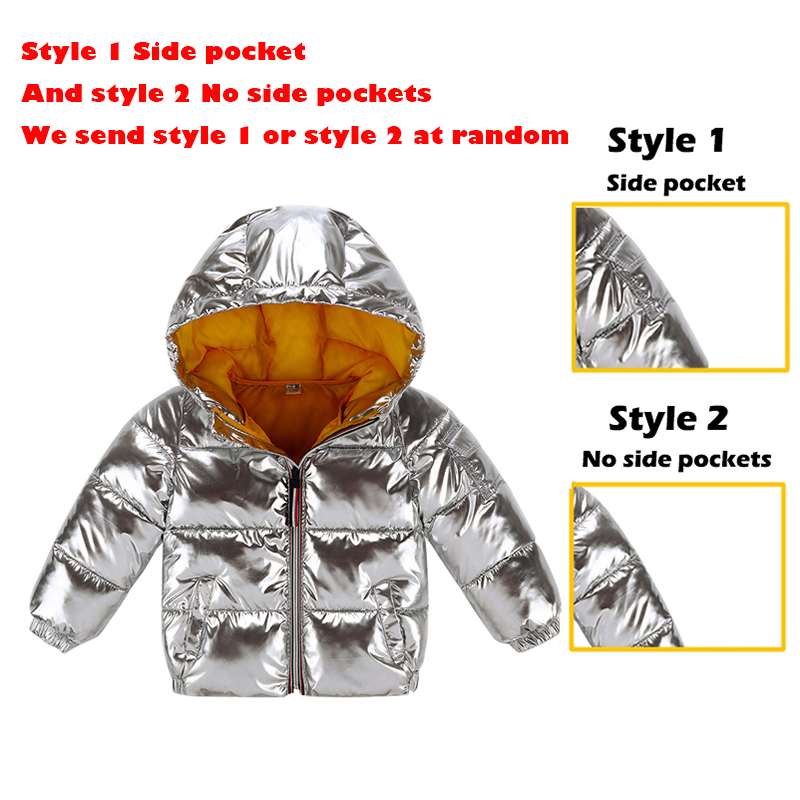 HH Boys coats winter jacket kids down cotton coat Waterproof snowsuit pink Gold silver jacket Hooded parka girls down coats