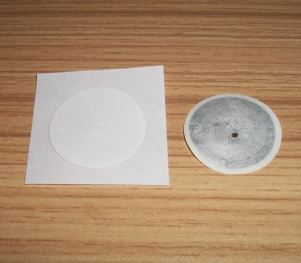 100pcs/lot 25MM White RFID NFC Label/Sticker/Tag 13.56MHZ ISO 14443A Mifare1K S50 F08