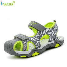 high quality children boys sandals cut-outs beach shoes for kids canvas soft and light summer