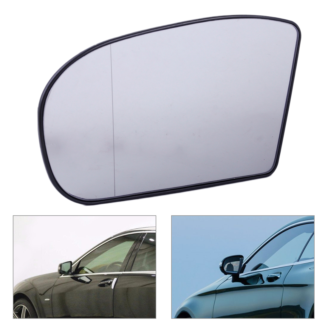 beler Left Heated Door Mirror Glass Aspherical Wide Angle Fit For Mercedes E class C Class W211 W203 2038100121 203 810 01 21