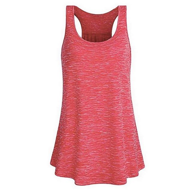 Women's Loose Style Melange Color Gym / Yoga Top 14 colors S-XXL