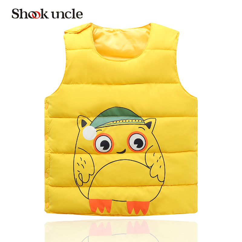 Children 2017 winter child down vest cotton jacket boys girls waistcoat outerwear winter baby vest #TZ005c