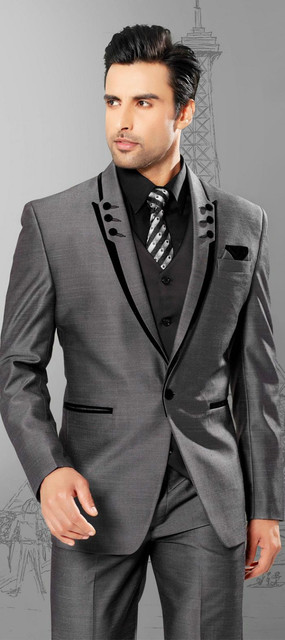 Clic Design Charcoal Gray Groom Tuxedos Groomsman Men S Wedding Prom Suits Jacket Pants