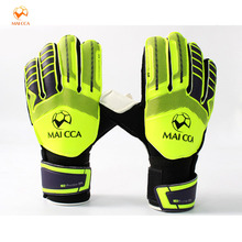 MAICCA Football goalkeeper glvoes adults Professional Finger Protection Thick PU fingerstall Latex Soccer Goalie Gloves(China)