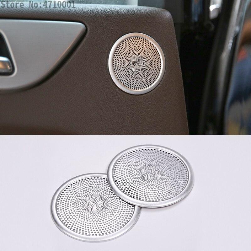 2 шт. Алюминий сплав двери автомобиля стерео Динамик декоративная крышка Накладка для Mercedes Benz ML GL GLE W164 X164 2013 2016 аксессуары