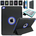 Smart Flip Leather Stand Case for iPad 2/iPad 3/iPad 4 Heavy Duty Shockproof Dustproof Case with Screen Protector Film