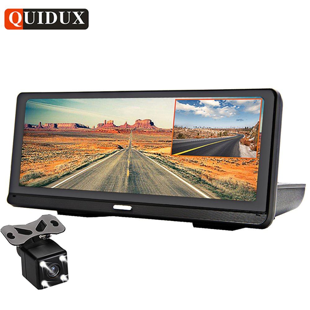 QUIDUX 8.0 Voiture DVR GPS Navigation FHD 1080 p Android de voiture caméra vidéo enregistreur ADAS Nuit Vision WiFi À Distance surveillance Dashcam
