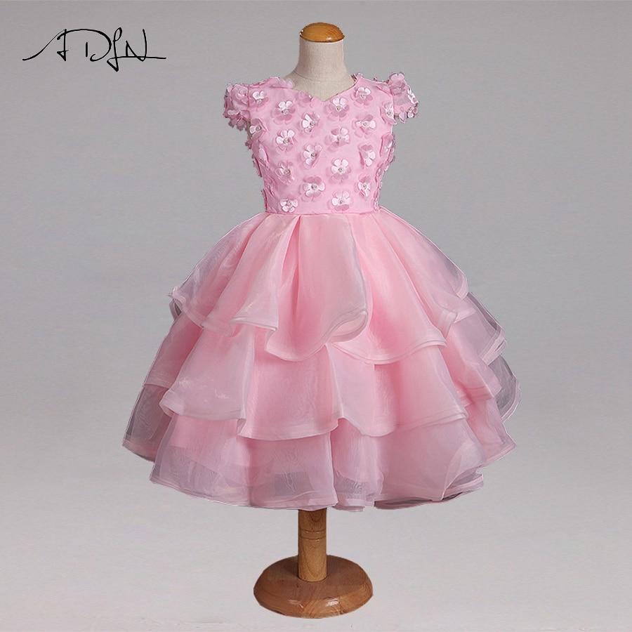 Adln Pink Vintage Princess Flower Girl Dresses For Wedding Flowers