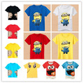 New 2016 cartoon anime figure despicable me   clothes minion costume children's clothing children t shirts children's wear