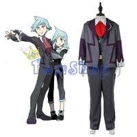 Anime Pokemon Daigo Tsuwabuki Steven Pietra Cosplay Uniform Suit Uomini Full Set Fantasia Partito Costumi Fatti Su Misura