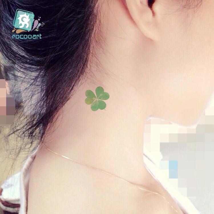 RC-039/nouveautés, trèfle vert conçoit de faux autocollants de tatouage autocollants de tatouage temporaire tatouages de transfert d'eau d'art corporel.