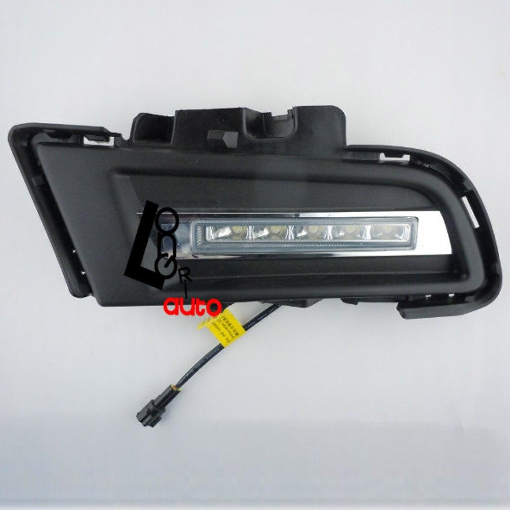 car styling Daytime Running Light W/Head LED DRL Fit for Mazda 3 2010-2012 led drl daytime running light for mg3 mg 3 2010 13