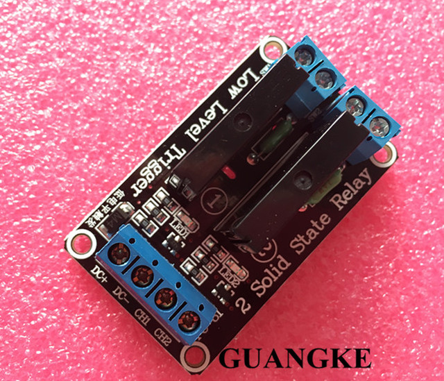 Smart Electronics 2 Channel 5V DC Relay Module Solid State High Level  SSR AVR DSP for Arduino Free Shipping