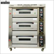 XEOLEO LPG Gas Baking Oven 3 Layers 6 Plates Food Oven Multi-functional Commercial Oven Machine for Cake/Bread/Pizza/Egg tart