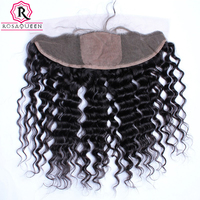 Deep Wave Silk Base Closure Brazilian 13X4 Lace Frontal Closures With Baby Hair Natural Hairline Hair Dolago Virgin