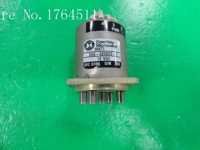 [BELLA] DOW-KEY 555-520822-1 DC-18GHZ 12V SMA Single Pole Five Throw RF -