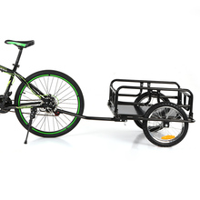 iKayaa Folding Bicycle Cargo Trailer  Hand Wagon Bike Cargo Trailer Luggage Storage Cart Carries w/ Detachable Metal Frame Hitch realts trumpeter 00211 1 35 maz 537g mid type w semi trailer