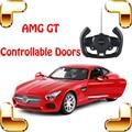 Новое Поступление Подарок AMG GT 1/14 RC Пульт Дистанционного Управления Автомобилей Двери Управляемый Автомобиль Roadster Модель литой Открытый Весело игры