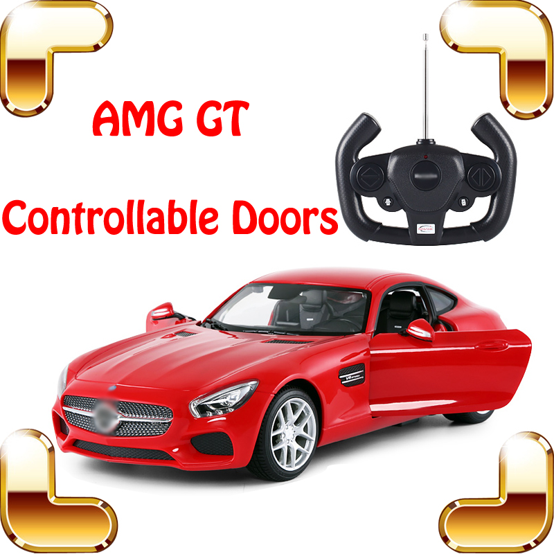New Arrival Gift Rastar AMG GT 1/14 RC Remote Control Car Doors Controllable Vehicle Roadster Model Die-cast Outdoor Fun Game