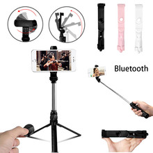 3 in 1 Wireless Bluetooth Selfie Stick Handheld Monopod Shutter Remote Foldable Mini Tripod For iPhone XR 8 X 7 6s Plus 2019