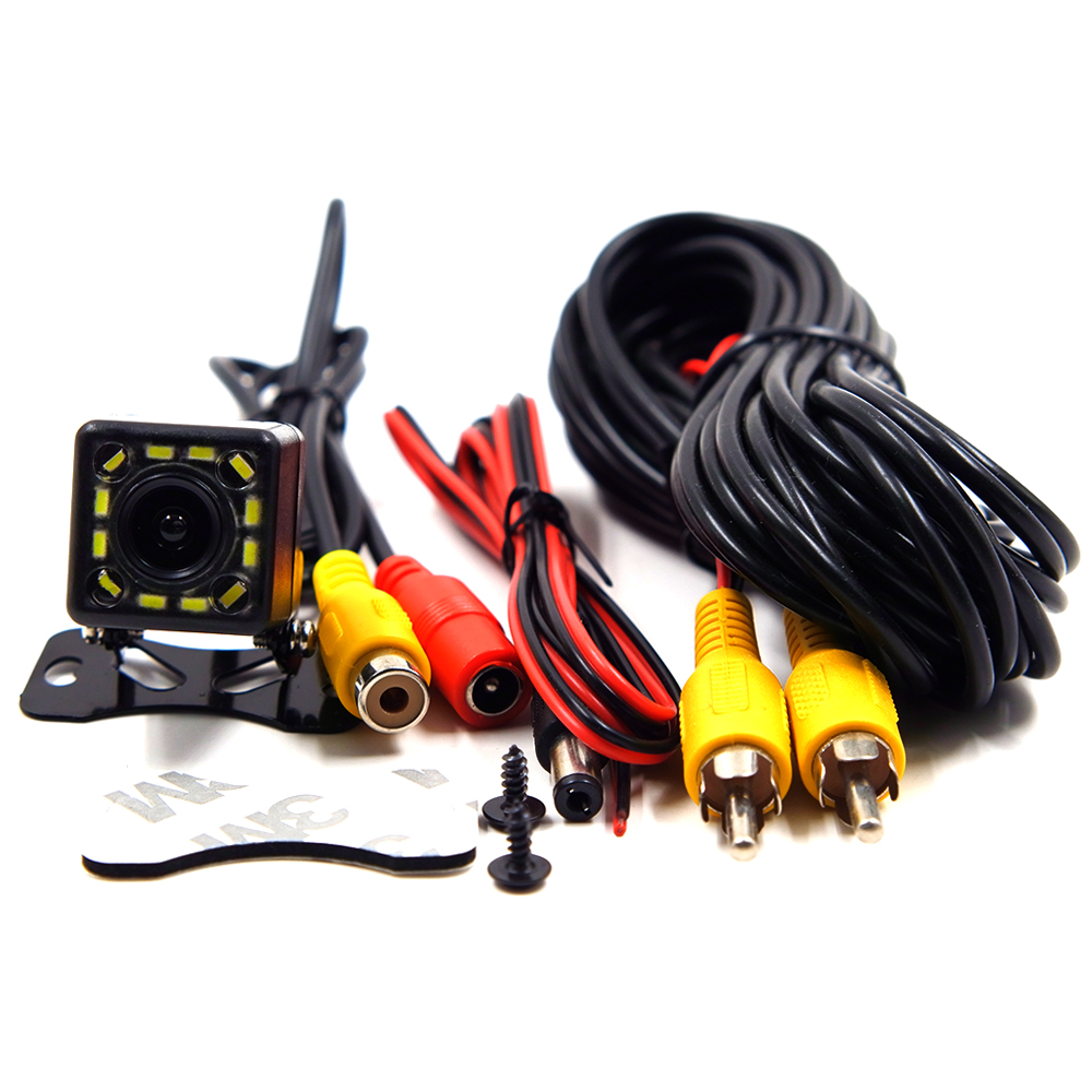 BYNCG WG-12LEDs NEW 12 LEDs Night Wide View Angle Parking Assistance Car Camera Universal Waterproof HD CCD Car Rear View Camera