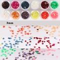 1 Caja de 4 ml de Uñas Consejos Glitter 3mm en Forma de Corazón Transparente Jelly Series Color Decoración de Uñas
