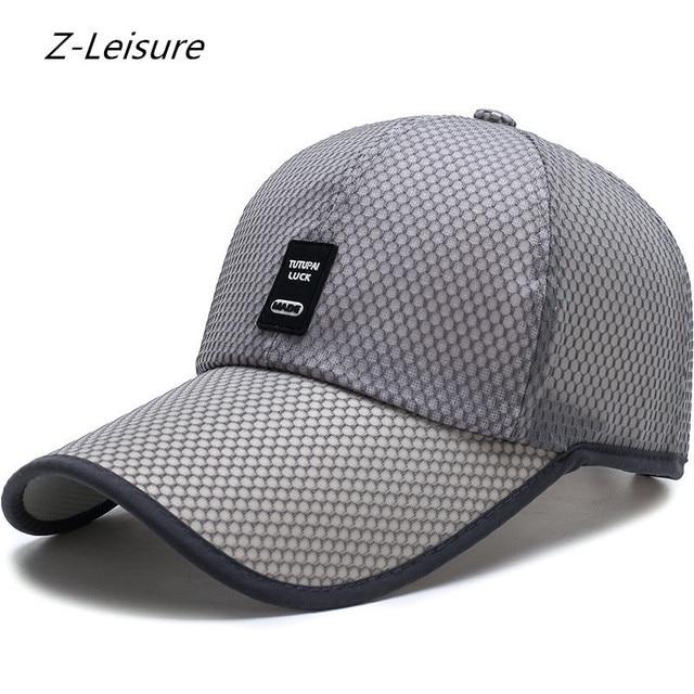 e0710f481 US $11.6 |Vintage Quick dry hats Women Men classic Net LUCK Baseball Caps  Hiking Chapeu gorras Casquette Mesh Hip Hop snapback-in Baseball Caps from  ...