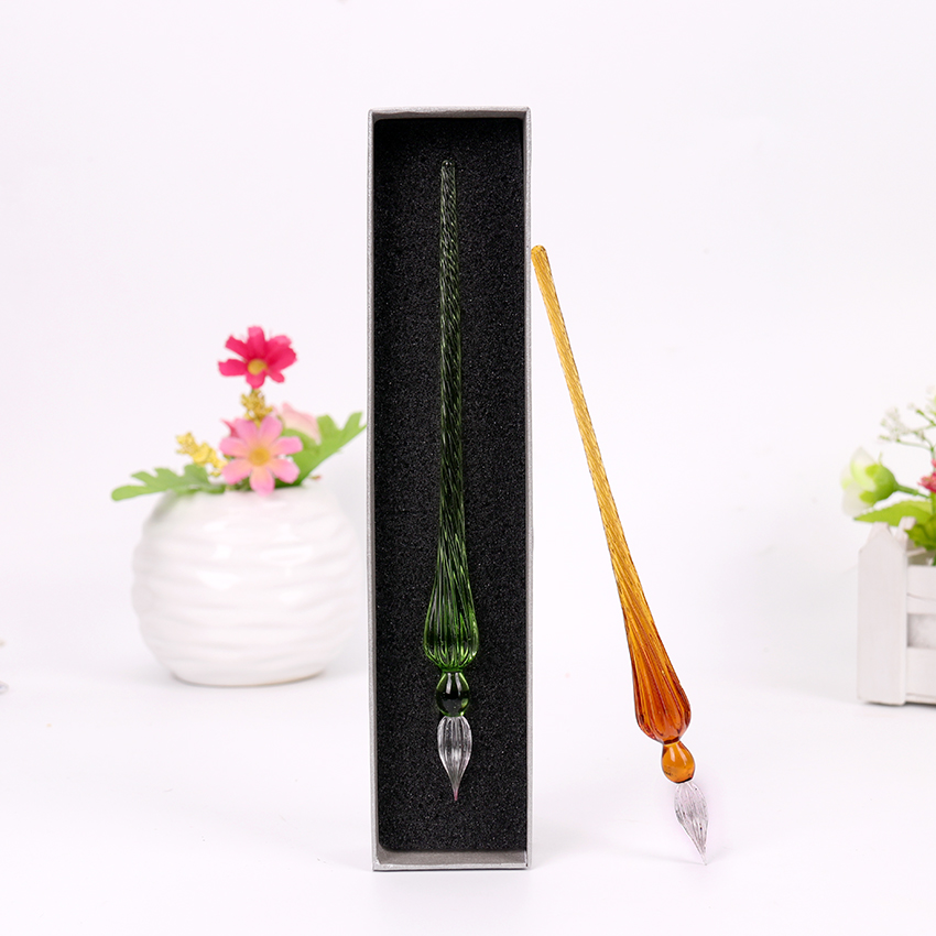 1PC Fashion Creative Glass Pen Dipping Water Pen Business School Office Stationery Couple Valentine Day Gift image
